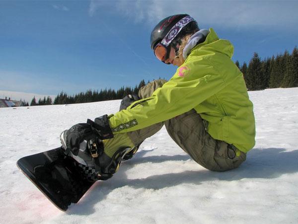 Сломалось крепление на сноуборде