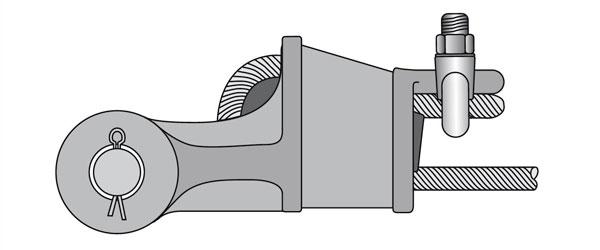 Присоединение троса к корпусу розетки