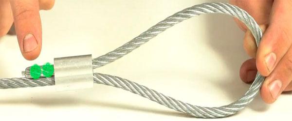 Два диаметра кабеля